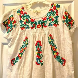 Vibrant Embroidered Top